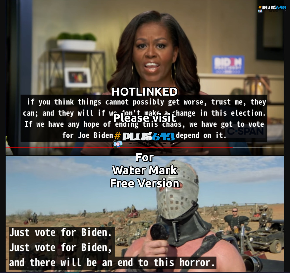 just vote for biden...