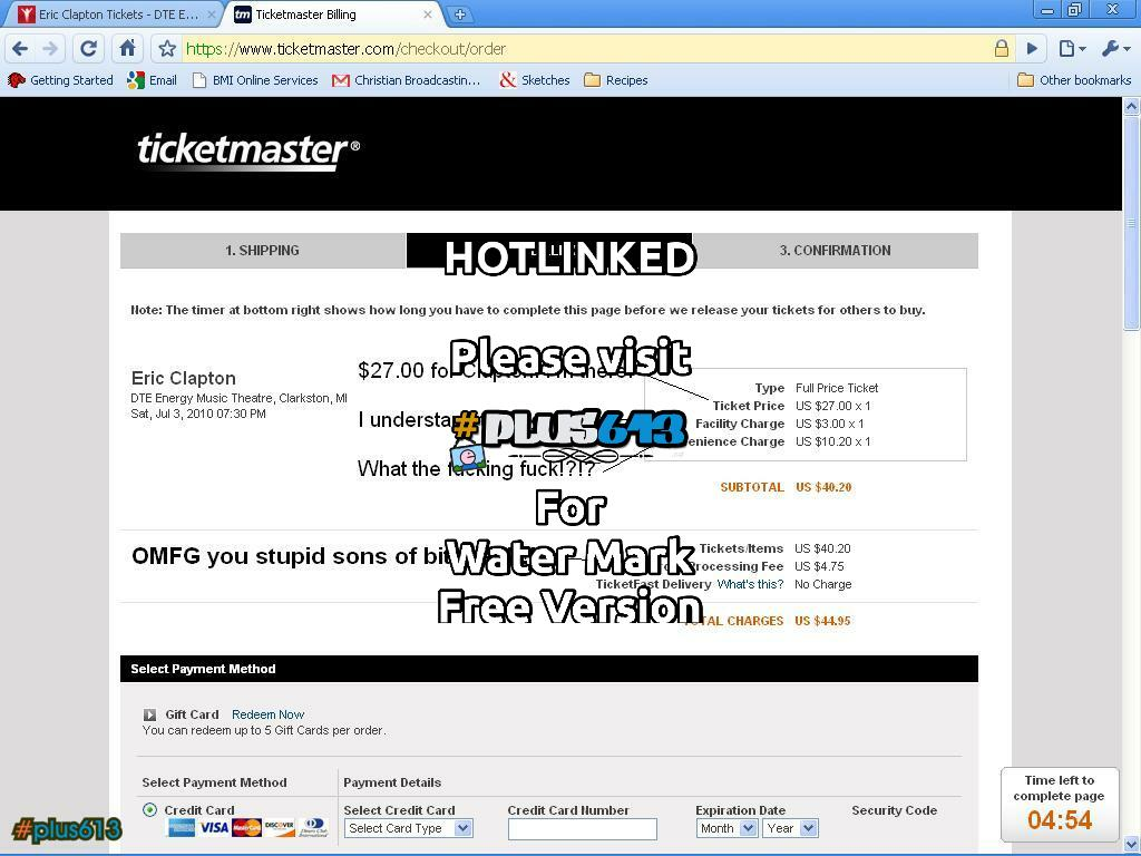 Ticketmaster fail