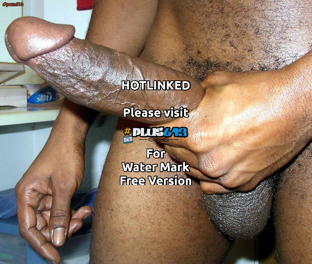 Big black cock handling man