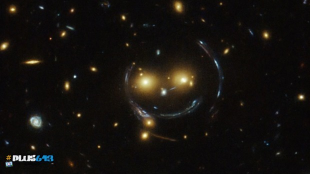 Hubble spots galactic smiley face
