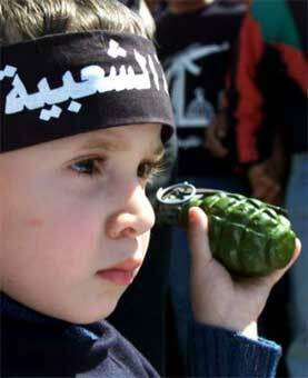 Iraqi boy with Easter egg (Made in USA)