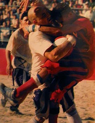 Anchient football: Calcio Storico Fiorentino (Florence, Italy since ages ago)