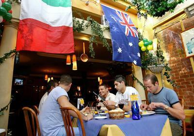 Italy and Australian begin their match of good food and wine countries