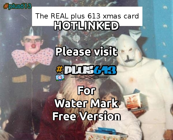 The REAL plus613 xmas card