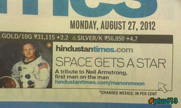 Neil Armstrong, the first man on the man?
