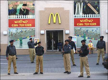 Micky D's needed extra security for the release of the McRib in Pakistan.