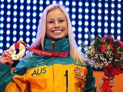 Alisa Camplin retired...