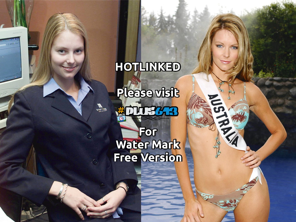 What a difference make-up & tan can make for jennifer hawkins..