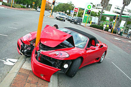Ouch! Pole dancing, Ferrari style