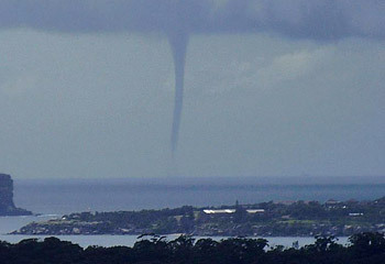 Water spout in Sydney yesterday