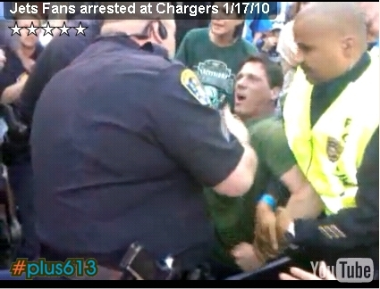 San Diego Cops take out Jets Fan