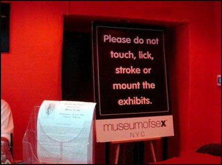Sign at a museum
