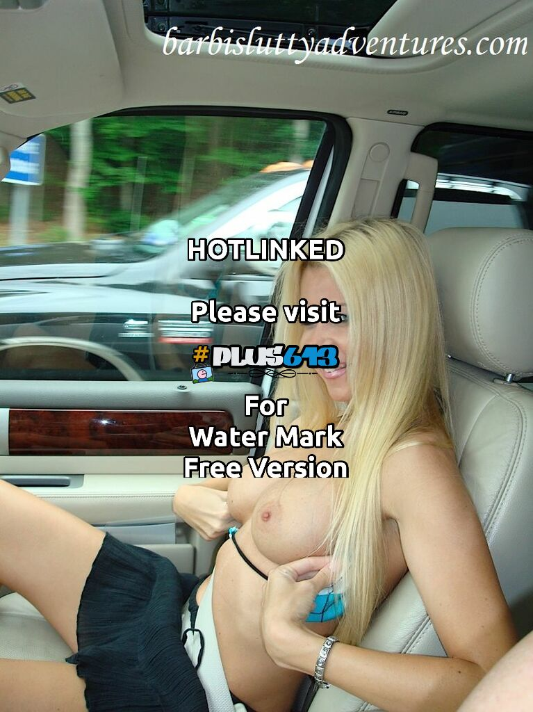 Big naked tits car ride