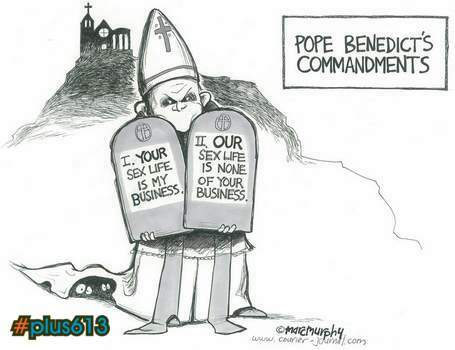The Pope says.....
