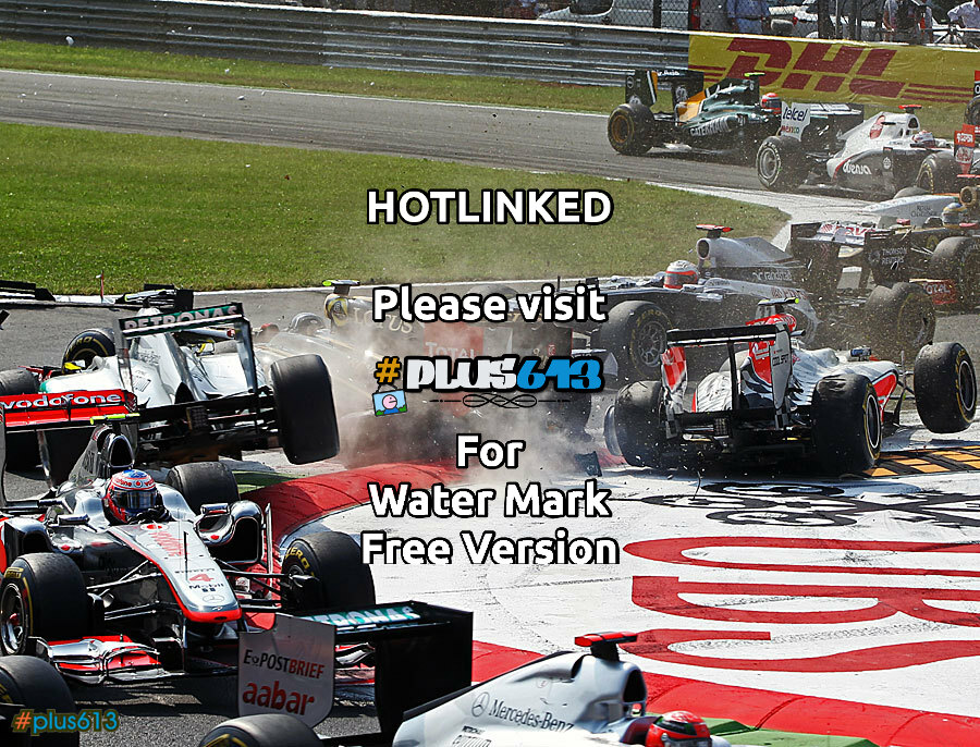 First corner carnage, Italian F1 Grand Prix, Monza, 11th September 2011