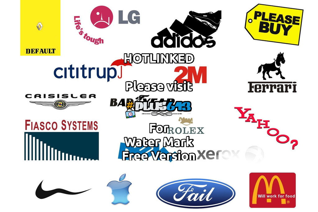 Updated company logos for a failing economy