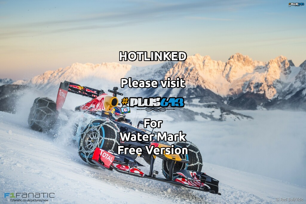 Red Bull F1 on ski slope