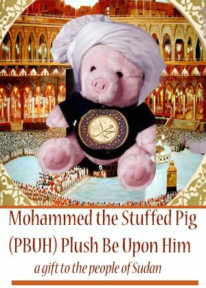 Mohammed the stuffed pig