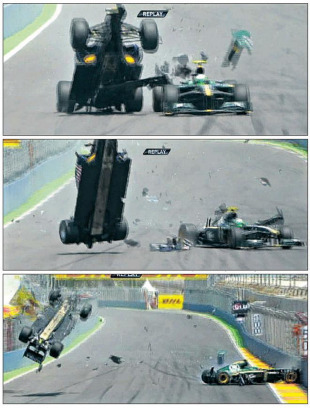 Mark Webber walks away unhurt from massive crash, European Grand Prix, Spain