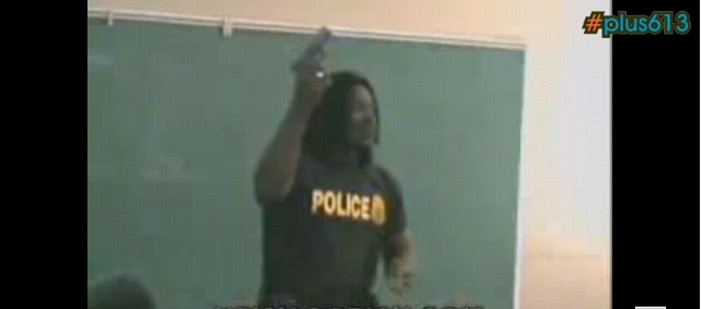 Law Enforcement Brutha Shoots Himself in Class