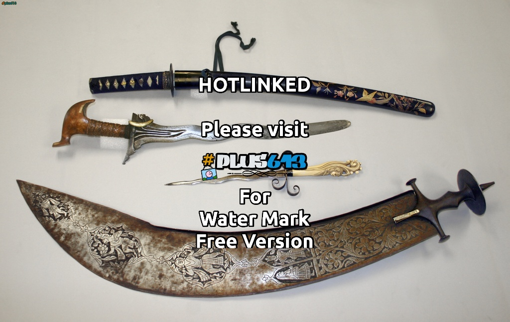 Japanese sword, Moro sword, European dagger, Indio Beheading Sword